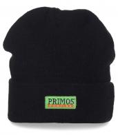 Черная мужская шапка Primos Hunting  с подворотом