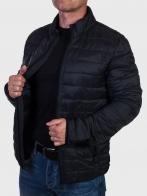 Черная осенняя мужская куртка