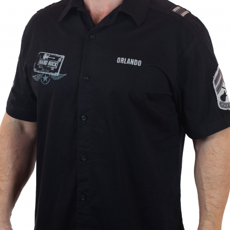 Черная рубашка Hard Rock для знатоков стиля