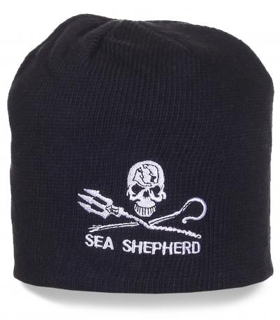 Черная шапка Sea Shepherd общества охраны морской фауны