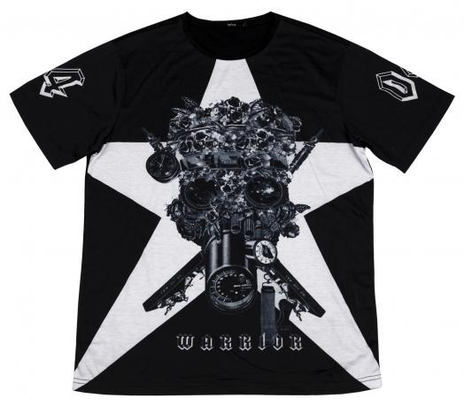 Черно-белая мужская футболка Splash. Безупречное качество по супер-цене