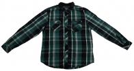 Черно-зеленая рубашка Surplus в клетку