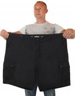 Черные мужские шорты большого размера от Urban Pipeline