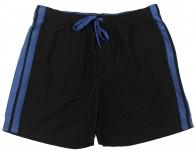 Черные мужские шорты с синими вертикальными полосками