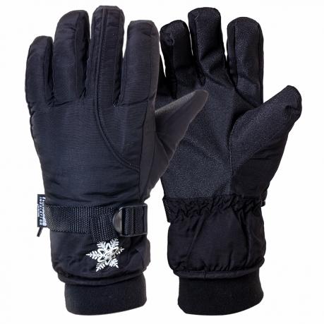 Черные спортивные перчатки на флисе и тинсулейте