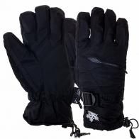 Черные спортивные перчатки на тинуселейте с карманом