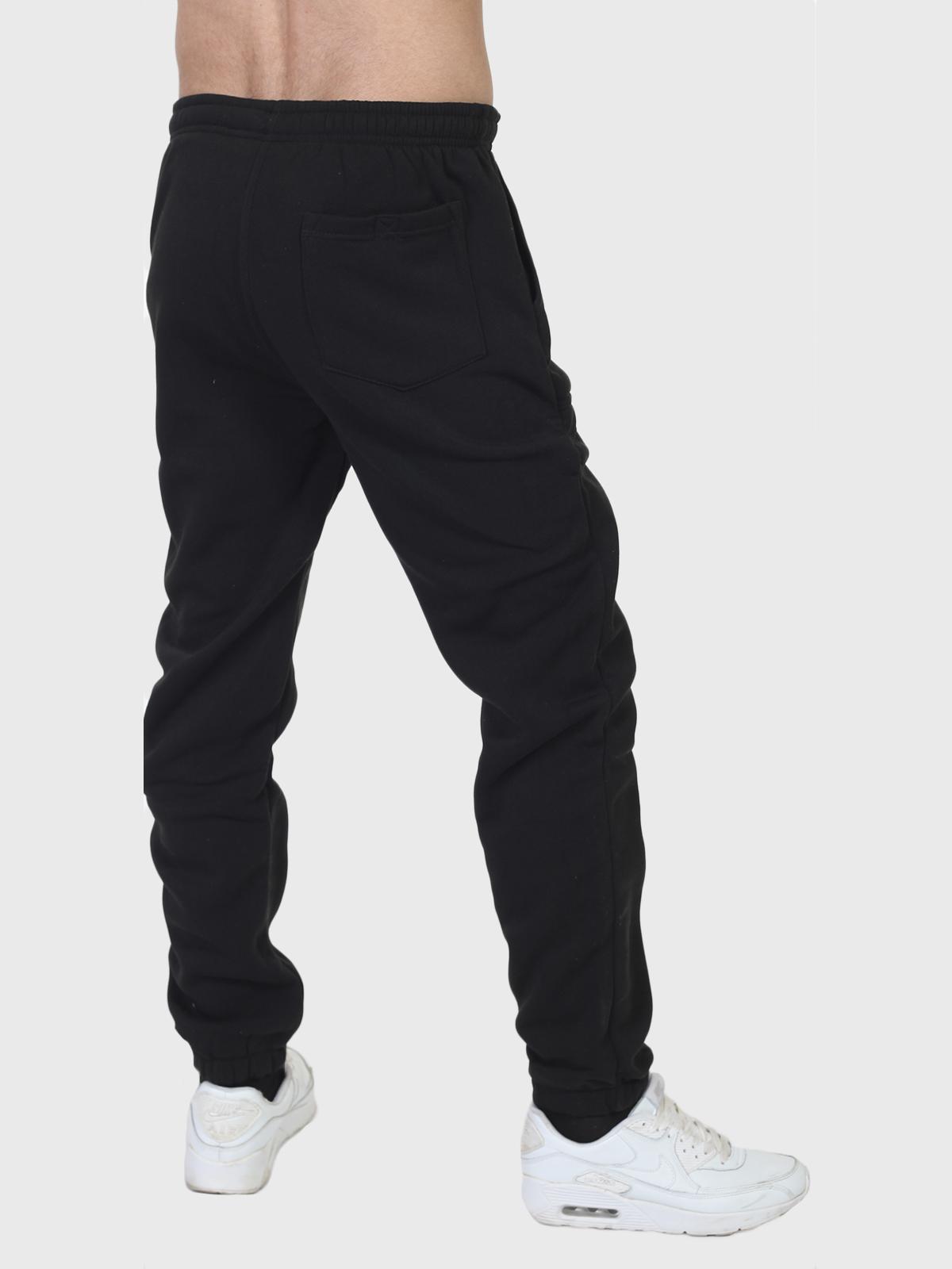Черные утепленные спортивные штаны танкиста с удобной доставкой