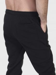 Черные утепленные спортивные штаны танкиста