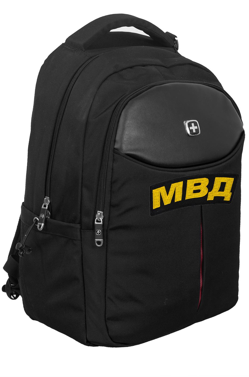 Черный повседневный рюкзак МВД - купить оптом