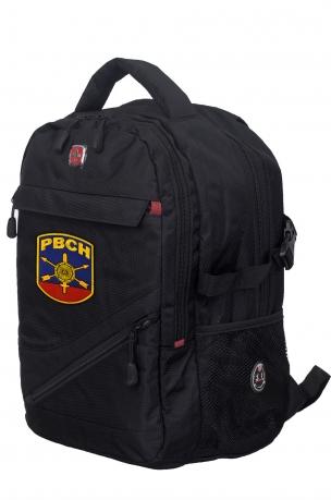 Черный универсальный рюкзак с нашивкой РВСН - купить выгодно