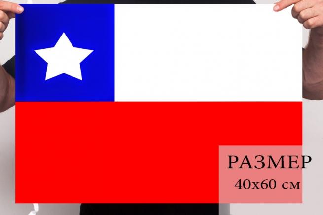 Чилийский флаг 40x60 см
