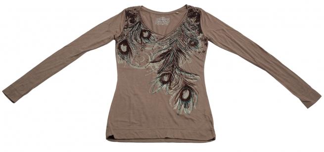 Чудесная нарядная кофточка Panhandle Slim с колоритным украшением из перьев