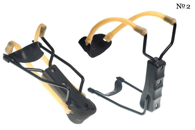 Чёрная спортивная рогатка с упором (№2)