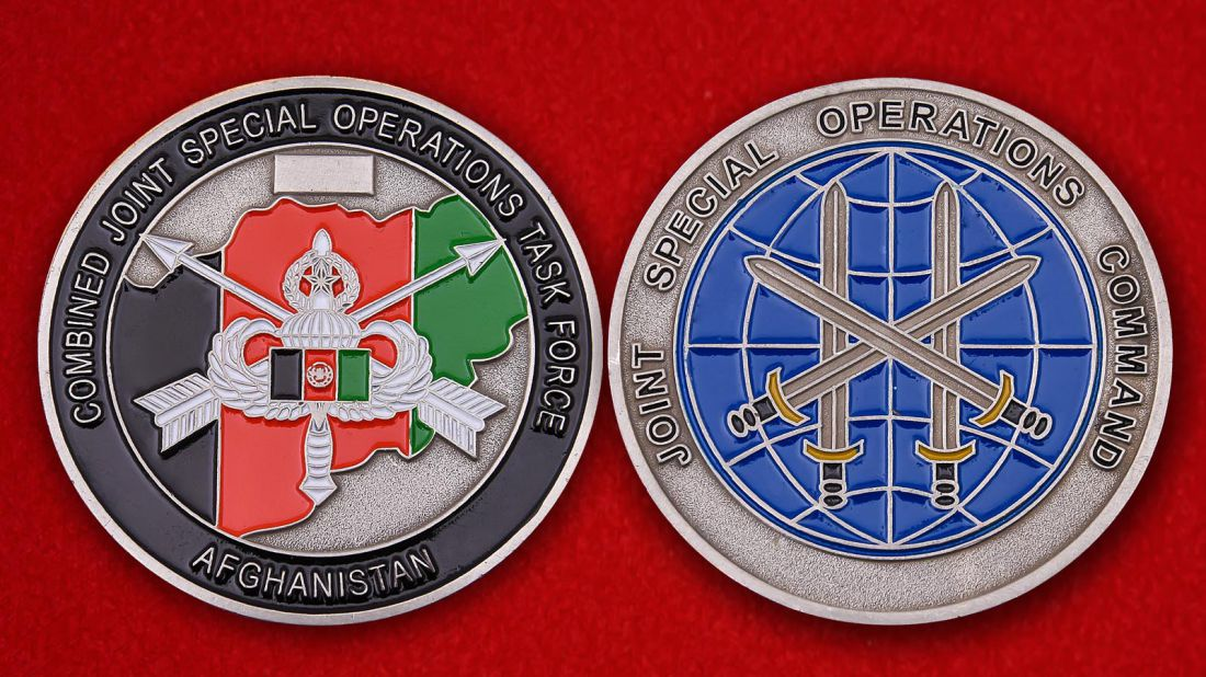 Combined Joint Special Operations Task Force Afghanistan Challenge Coin - obverse and reverse