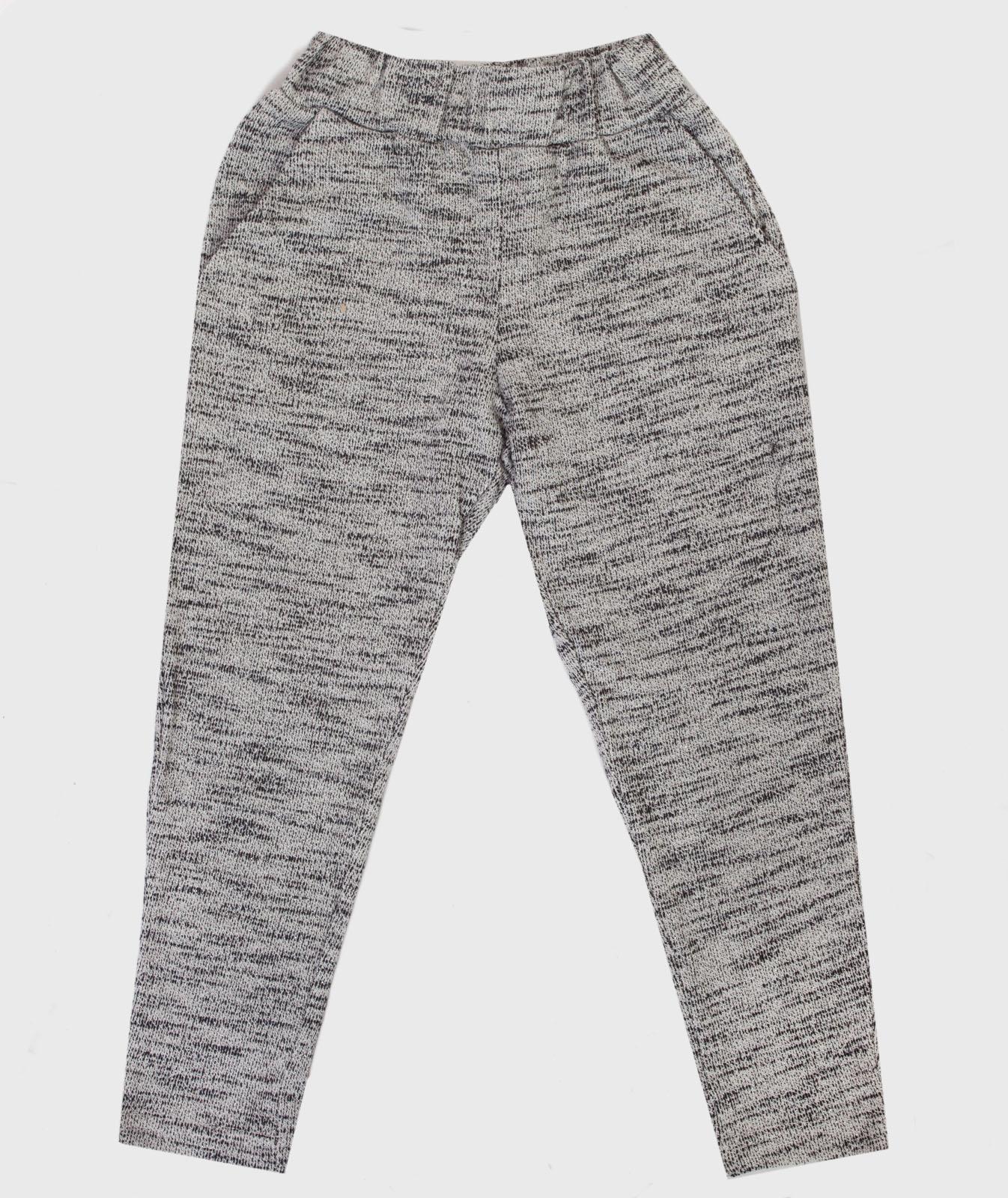 Детские брюки из меланжевого трикотажа.