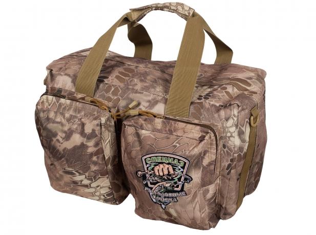 Дорожная сумка в камуфляже Kryptek Nomad с шевроном Рыболовного спецназа купить онлайн