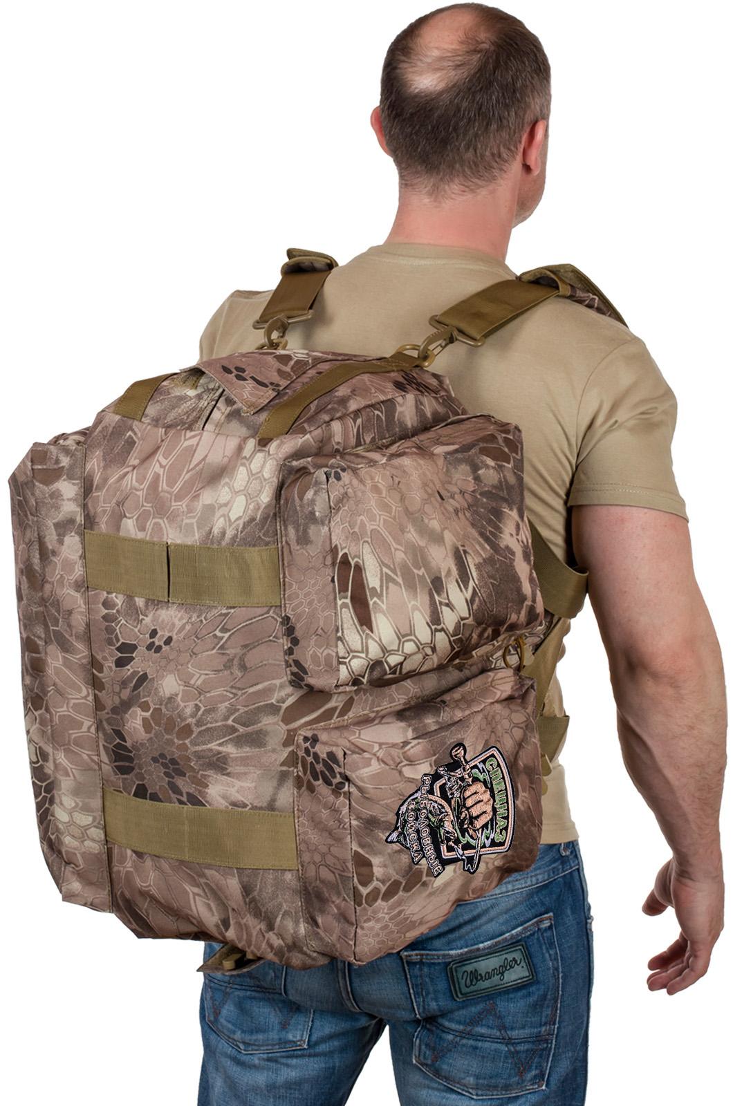 Дорожная сумка в камуфляже Kryptek Nomad с шевроном Рыболовного спецназа купить по приемлемой цене