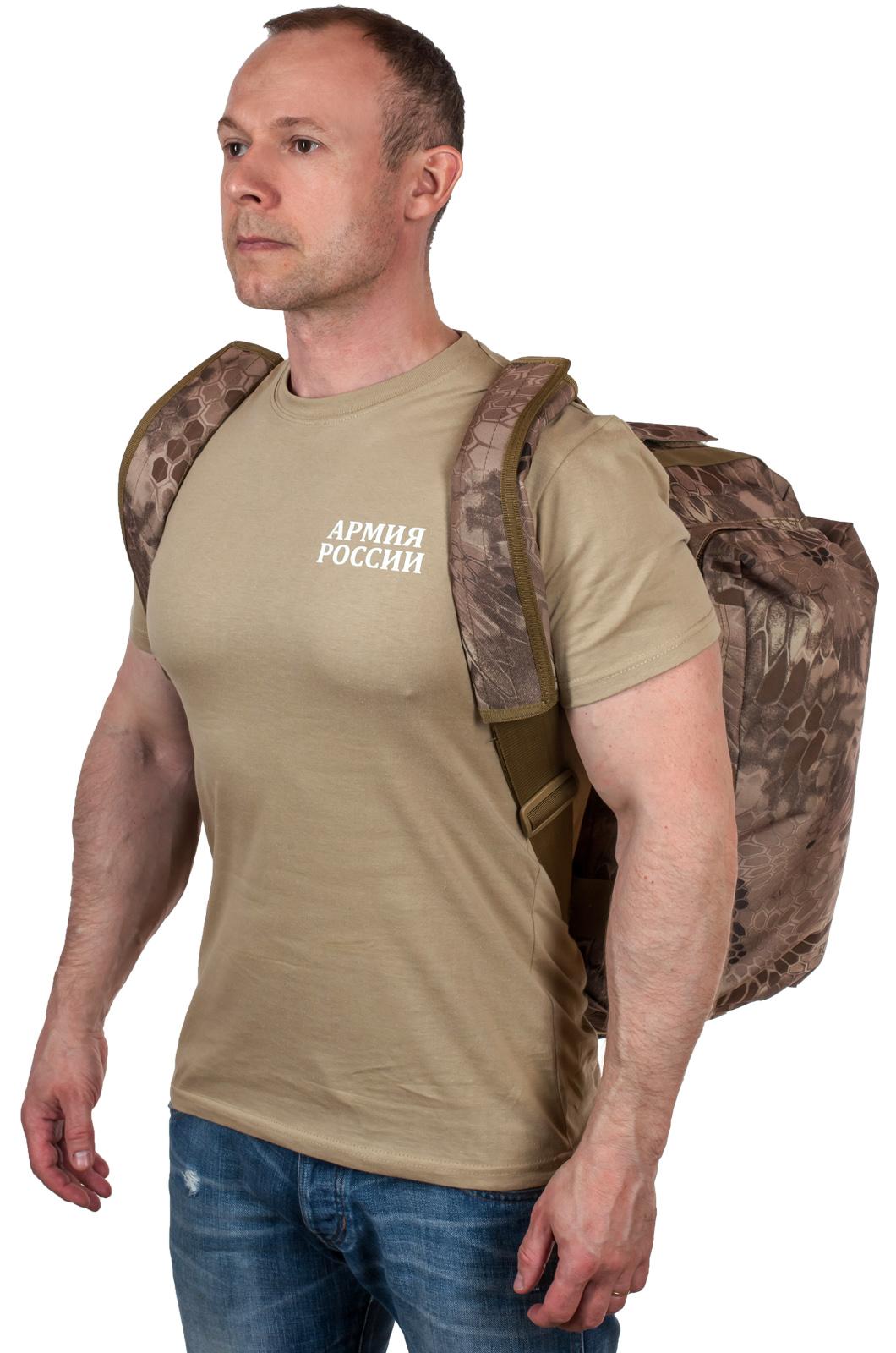 Дорожная сумка в камуфляже Kryptek Nomad с шевроном Рыболовного спецназа купить в розницу