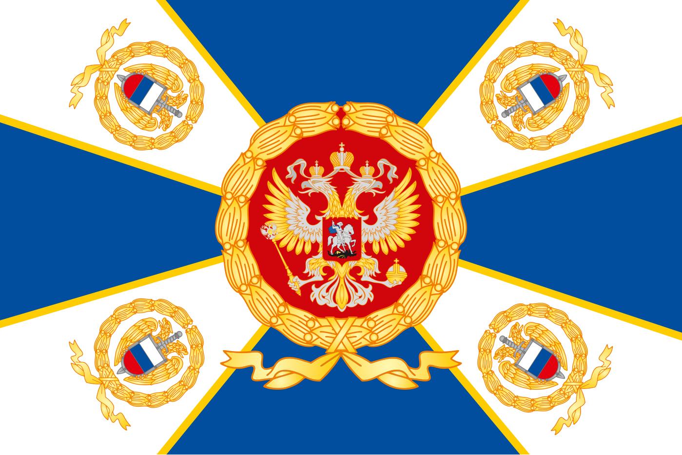 Двухстороннее знамя ФСО