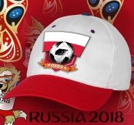 Двухцветная фанатская бейсболка сборной Польши