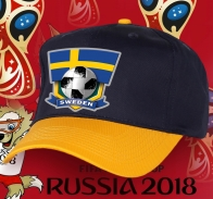 Двухцветная фанатская бейсболка Sweden