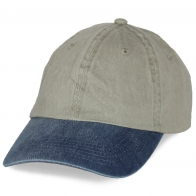 Двухцветная кепка под нанесение эмблем