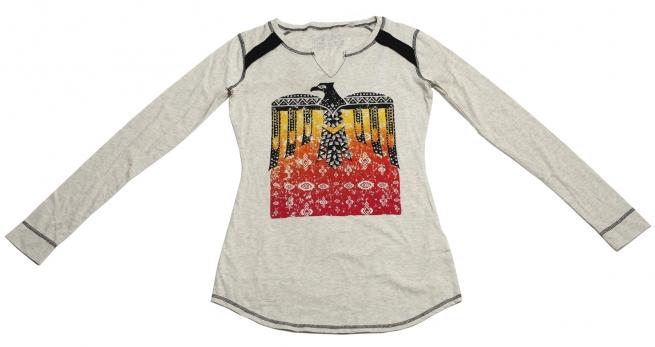 Эффектная кофточка бренда Panhandle Slim с орлом племени майя