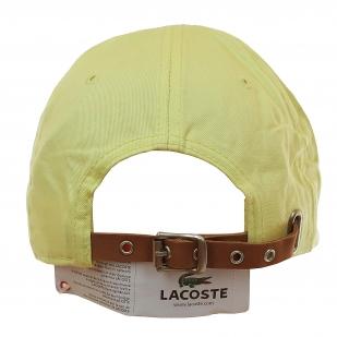 302ba6195279 Эксклюзив! Бейсболка французского бренда Lacoste. Креативный логотип,  модный цвет «Джало санто»