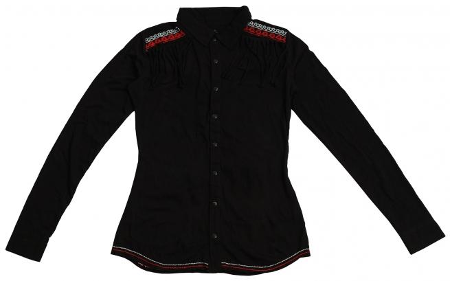 Эксклюзивная рубашка Panhandle Slim с вышивкой и бахромой