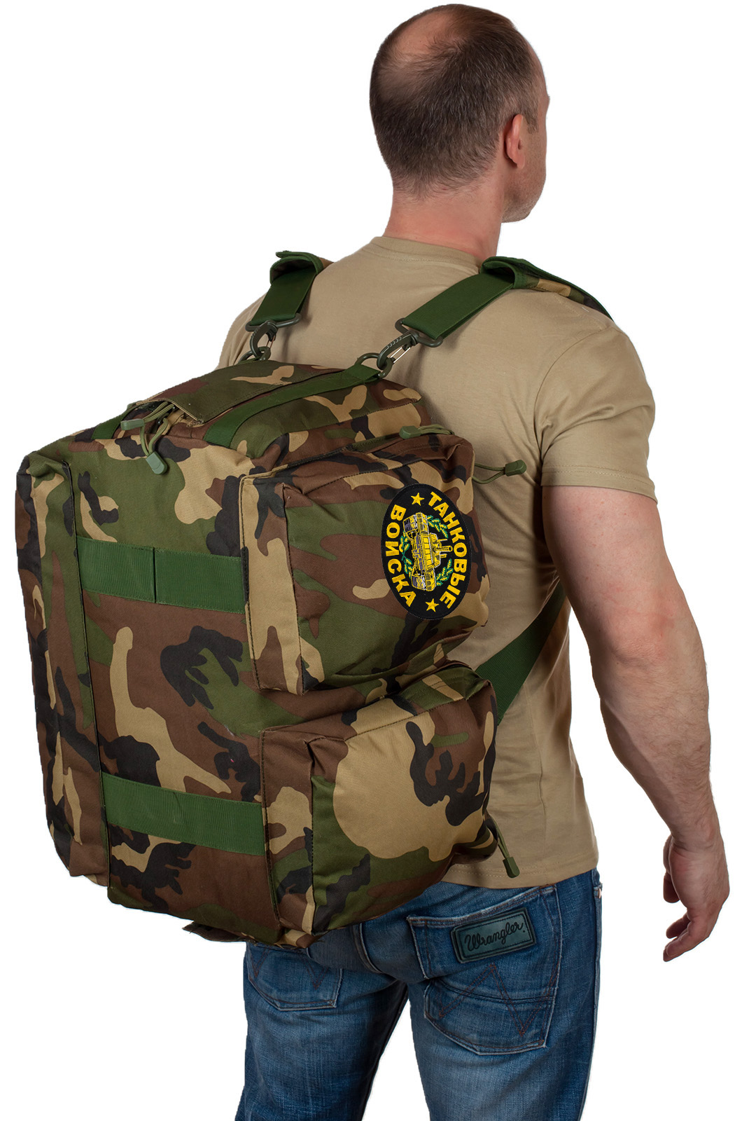 Эргономичная военная сумка с нашивкой Танковые Войска - заказать выгодно