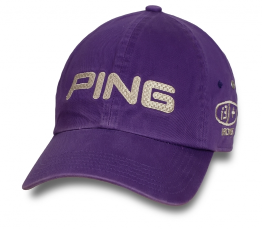 Фиолетовая мужская бейсболка Ping