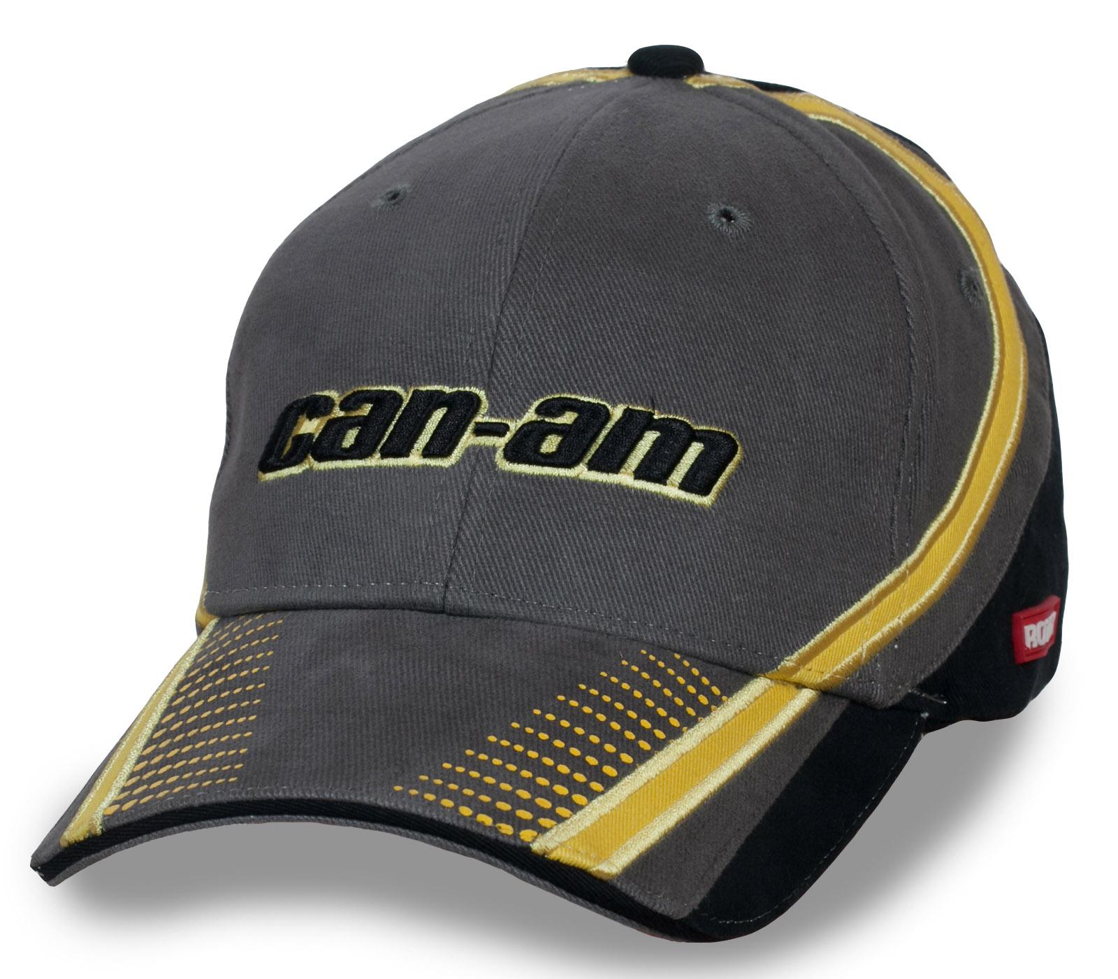 Купить серую мужскую футболку с фирменным лого Can-Am