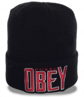 Фирменная городская шапка бренда Obey отменного качества молодежная модель