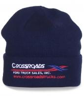 Фирменная шапка Crossroads. Тематическая надпись, теплая ткань