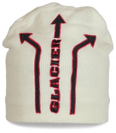 Фирменная шапка Glacier. Стильная молодежная модель
