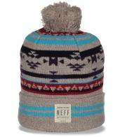 Фирменная женская шапка с лаконичным узором от бренда Neff с отворотом вне конкуренции
