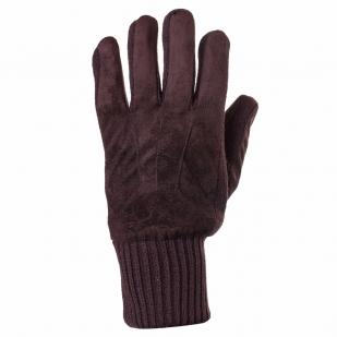 Фирменные зимние перчатки NATURA с провязанными пальцами и манжетой.