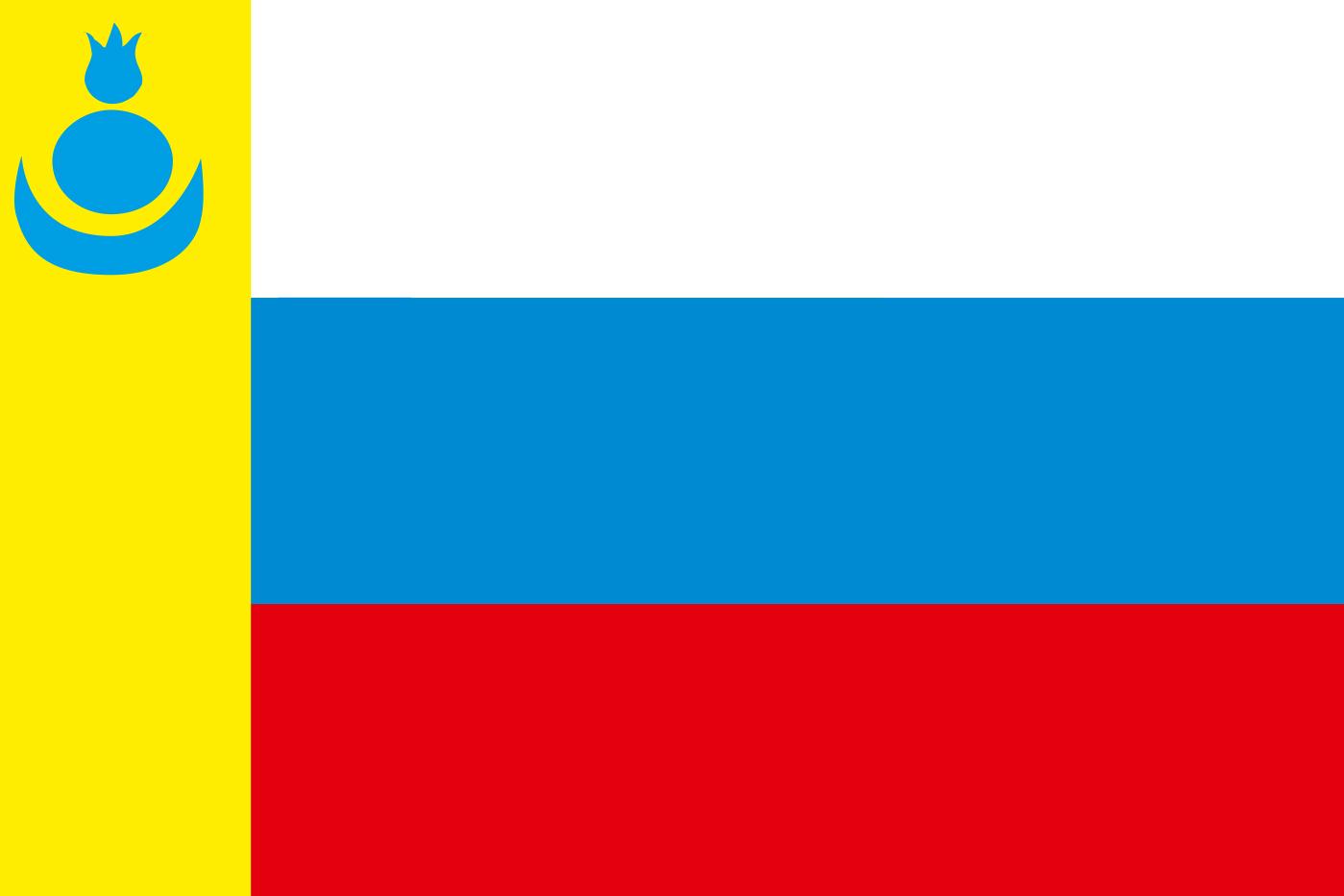 Флаг Агинского Бурятского округа 1996 года