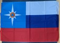 Флаг МЧС России на сетке