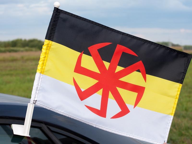 Флаг на машину с кронштейном Коловрат Имперка