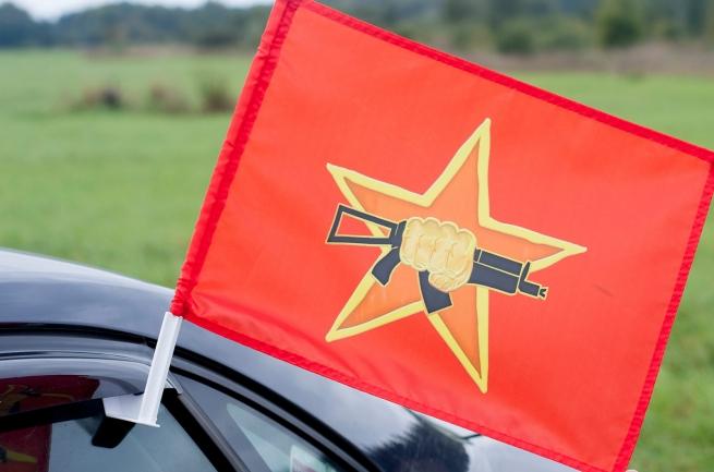 "Флаг на машину с кронштейном ""Флаг краповых беретов спецназа ВВ"""