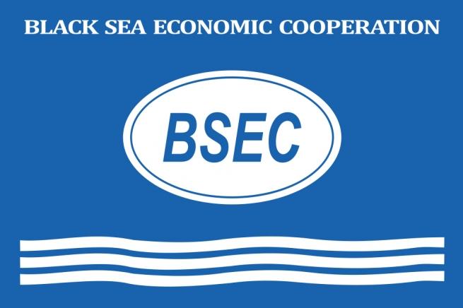 Флаг Организации Черноморского экономического сотрудничества