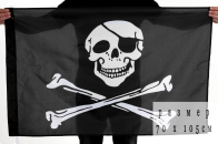"Байкерский флаг ""Пират"""