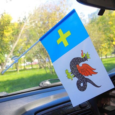 Флажок Каширского района в машину
