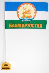 Флажок на палочке «Башкортостан с гербом»
