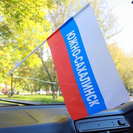 Флажок триколор Южно-Сахалинска