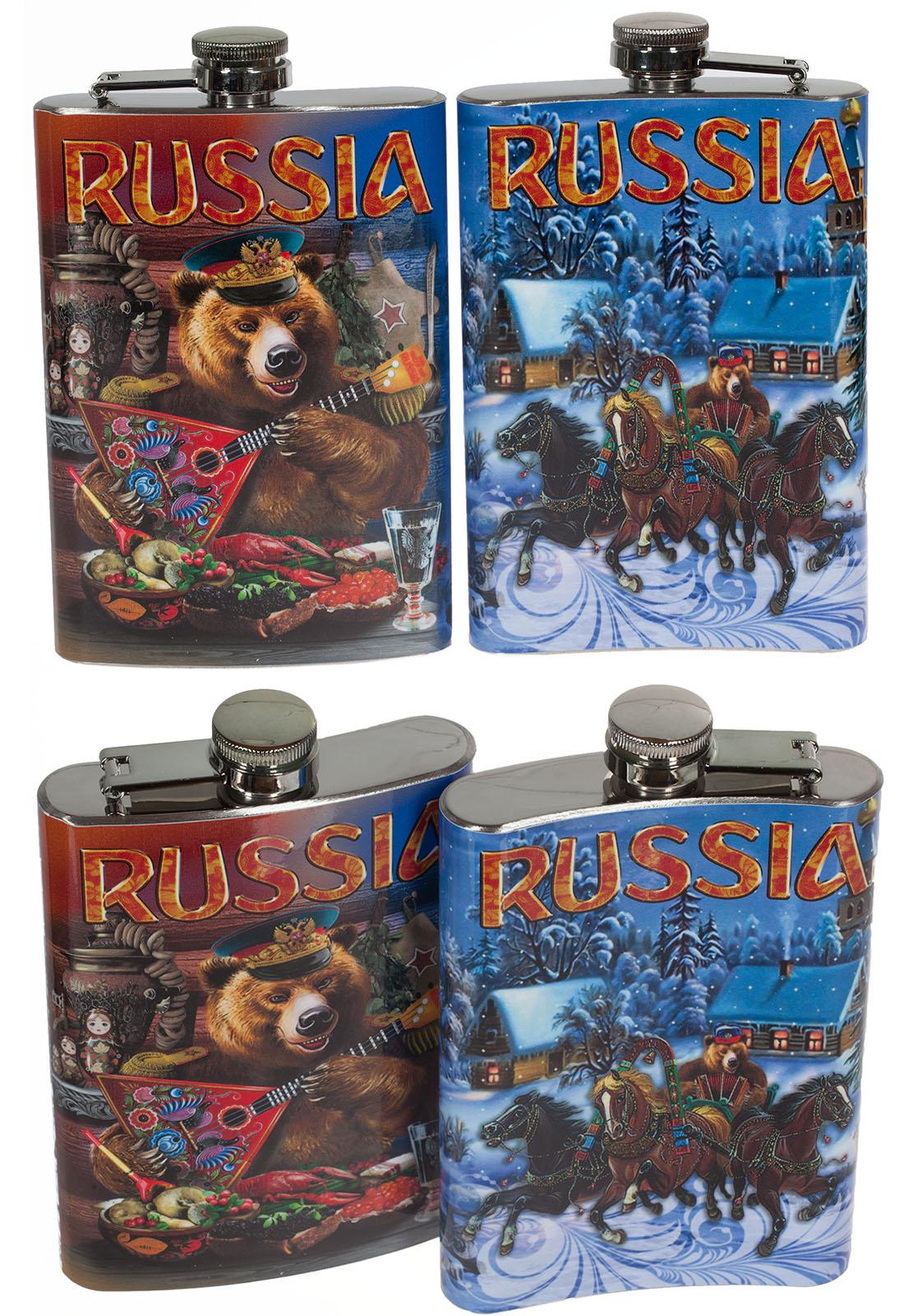 """Фляжка """"Русский медведь"""" заказать с доставкой"""