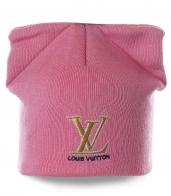 Французская шапочка Louis Vuitton нежного розового цвета. Надежно согреет и создаст модный образ. Эксклюзивно для красоток!