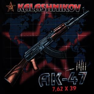 Футболка АК-47 цветная