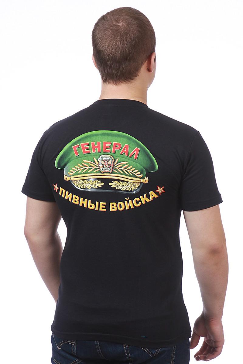 """Футболка """"Генерал Пивных войск"""" - вид сзади"""